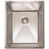 #FK-PEX110-14 Undermount Kitchen Sink in Stainless Steel, 14''W x 17''D x 9-1/2''H