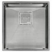 Peak 16'' Single Bowl Undermount Sink,16 Gauge, Stainless Steel, 16-7/8''W x 17-3/4'' D