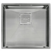 Peak 18'' Single Bowl Undermount Sink,16 Gauge, Stainless Steel, 18-15/16''W x 17-3/4'' D