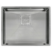 Peak Single Bowl Undermount Sink,16 Gauge, Stainless Steel, 23-13/16''W x 17-3/4'' D