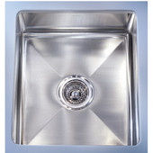 Professional Stainless Steel Single Bowl Undermount Sink, 14-5/8''W x 19-1/2''D x 7-1/2