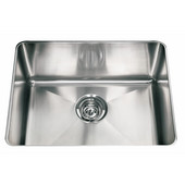 Professional Series Single Bowl Undermount Sink,16 Gauge, Stainless Steel, 23-13/16''W x 18-1/8'' D