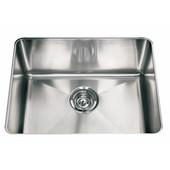 Professional Series Single Bowl Undermount Sink,16 Gauge, Stainless Steel, 22-1/2''W x 17-5/8'' D