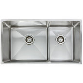Professional Series Double Bowl Undermount Sink,16 Gauge, Stainless Steel, 31-7/8''W x 18-1/8'' D