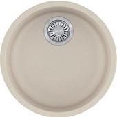 Rotondo Round Single Bowl Undermount Kitchen Sink, Granite, Fragranite Champagne, 17-7/8'' Dia. x 7-11/16''H