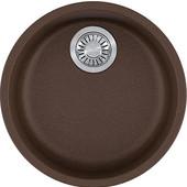 Rotondo Round Single Bowl Undermount Kitchen Sink, Granite, Fragranite Mocha, 17-7/8'' Dia. x 7-11/16''H