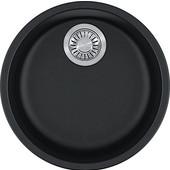 Rotondo Round Single Bowl Undermount Kitchen Sink, Granite, Fragranite Onyx, 17-7/8'' Dia. x 7-11/16''H