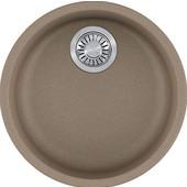 Rotondo Round Single Bowl Undermount Kitchen Sink, Granite, Fragranite Oyster, 17-7/8'' Dia. x 7-11/16''H