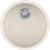 Rotondo Round Single Bowl Undermount Kitchen Sink, Granite, Fragranite Vanilla, 17-7/8'' Dia. x 7-11/16''H