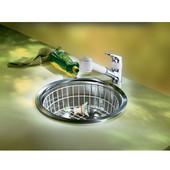 Rotondo Stainless Steel Single Bowl Topmount Sink, 17-1/8''Dia. x 6-9/16''H