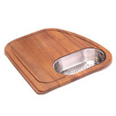 Vision Solid Wood Cutting Board with Polished Stainless Steel Colander