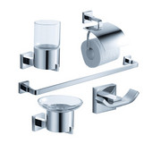 Glorioso Wall Mounted 5-Piece Bathroom Accessory Set in Chrome