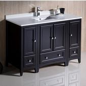 Oxford 48'' Wide Espresso Traditional Bathroom Cabinets w/ Top & Sink, 48'' W x 20-3/8'' D x 34-3/4'' H