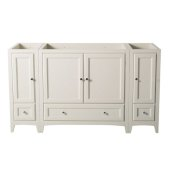 Oxford 60'' Antique White Traditional Vanity Base Cabinets, 59-3/8'' W x 20'' D x 34'' H