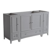 Oxford 60'' Gray Traditional Bathroom Vanity Cabinets, 59-3/8'' W x 20'' D x 34'' H