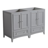 Oxford 48'' Gray Traditional Double Sink Bathroom Vanity Cabinets, 47-1/4'' W x 20'' D x 34'' H