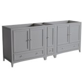 Oxford 83'' Gray Traditional Double Sink Bathroom Vanity Cabinets, 82-3/4'' W x 20'' D x 34'' H