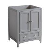 Oxford 24'' Gray Traditional Bathroom Vanity Cabinet, 23-5/8'' W x 20'' D x 34'' H