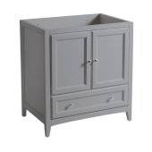 Oxford 30'' Gray Traditional Bathroom Vanity Cabinet, 29-1/2'' W x 20'' D x 34'' H