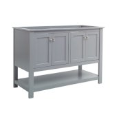 Manchester 48'' Gray Traditional Double Sink Bathroom Vanity Base Cabinet Only, Vanity Base Cabinet: 47-1/5'' W x 20'' D x 34'' H