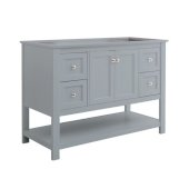 Manchester 48'' Gray Traditional Bathroom Vanity Base Cabinet Only, Vanity Base Cabinet: 47-1/5'' W x 20'' D x 34'' H