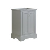 Windsor 24'' Gray Textured Traditional Bathroom Cabinet, 23-7/8'' W x 20-5/16'' D x 33-1/2'' H