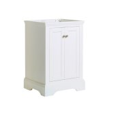 Windsor 24'' Matte White Traditional Bathroom Cabinet, 23-7/8'' W x 20-5/16'' D x 33-1/2'' H