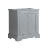 Windsor 30'' Gray Textured Traditional Bathroom Cabinet, 29-7/8'' W x 20-5/16'' D x 33-1/2'' H