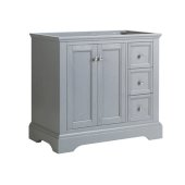 Windsor 36'' Gray Textured Traditional Bathroom Cabinet, 35-5/8'' W x 20-5/16'' D x 33-1/2'' H