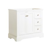 Windsor 36'' Matte White Traditional Bathroom Cabinet, 35-5/8'' W x 20-5/16'' D x 33-1/2'' H