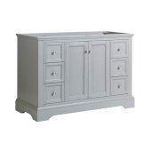 Windsor 48'' Gray Textured Traditional Bathroom Cabinet, 47-13/16'' W x 20-5/16'' D x 33-1/2'' H