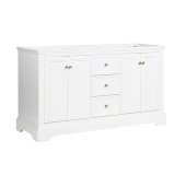 Windsor 60'' Matte White Traditional Double Sink Bathroom Cabinet, 59-5/8'' W x 20-5/16'' D x 33-1/2'' H