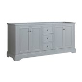 Windsor 72'' Gray Textured Traditional Double Sink Bathroom Cabinet, 71-5/8'' W x 20-5/16'' D x 33-1/2'' H