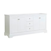 Windsor 72'' Matte White Traditional Double Sink Bathroom Cabinet, 71-5/8'' W x 20-5/16'' D x 33-1/2'' H