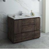 Formosa 48'' Floor Standing Modern Bathroom Vanity Base Cabinet w/ Top & Sink, Base Cabinet: 48'' W x 20-3/8'' D x 34-7/8'' H