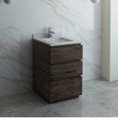 Formosa 24'' Floor Standing Modern Bathroom Vanity Base Cabinet w/ Top & Sink, Base Cabinet: 24'' W x 20-3/8'' D x 34-7/8'' H