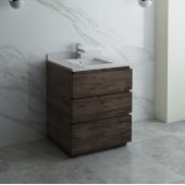 Formosa 30'' Floor Standing Modern Bathroom Vanity Base Cabinet w/ Top & Sink, Base Cabinet: 30'' W x 20-3/8'' D x 34-7/8'' H