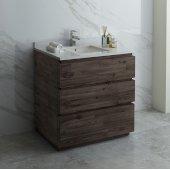 Formosa 36'' Floor Standing Modern Bathroom Vanity Base Cabinet w/ Top & Sink, Base Cabinet: 36'' W x 20-3/8'' D x 34-7/8'' H
