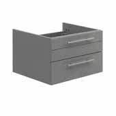 Lucera 24'' Gray Wall Hung Undermount Sink Modern Bathroom Vanity Base Cabinet Only, 23-1/5''W x 20''D x 15''H