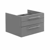 Lucera 24'' Gray Wall Hung Vessel Sink Modern Bathroom Vanity Base Cabinet Only, 23-1/5''W x 20''D x 15''H