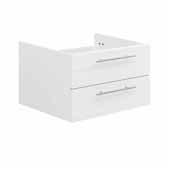 Lucera 24'' White Wall Hung Undermount Sink Modern Bathroom Vanity Base Cabinet Only, 23-1/5''W x 20''D x 15''H