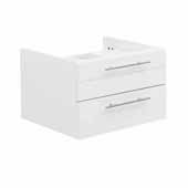 Lucera 24'' White Wall Hung Vessel Sink Modern Bathroom Vanity Base Cabinet Only, 23-1/5''W x 20''D x 15''H