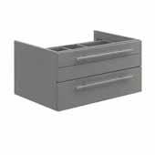 Lucera 30'' Gray Wall Hung Vessel Sink Modern Bathroom Vanity Base Cabinet Only, 29-1/5''W x 20''D x 15''H