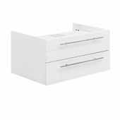 Lucera 30'' White Wall Hung Vessel Sink Modern Bathroom Vanity Base Cabinet Only, 29-1/5''W x 20''D x 15''H