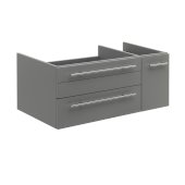Lucera 36'' Gray Wall Hung Undermount Sink Modern Bathroom Vanity Base Cabinet Only - Left Version, 35-1/5''W x 20''D x 15''H