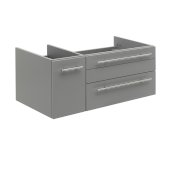 Lucera 36'' Gray Wall Hung Undermount Sink Modern Bathroom Vanity Base Cabinet Only - Right Version, 35-1/5''W x 20''D x 15''H