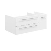 Lucera 36'' White Wall Hung Undermount Sink Modern Bathroom Vanity Base Cabinet Only - Left Version, 35-1/5''W x 20''D x 15''H