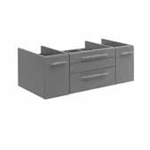 Lucera 42'' Gray Wall Hung Vessel Sink Modern Bathroom Vanity Base Cabinet Only, 41-1/5''W x 20''D x 15''H