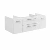 Lucera 42'' White Wall Hung Undermount Sink Modern Bathroom Vanity Base Cabinet Only, 41-1/5''W x 20''D x 15''H