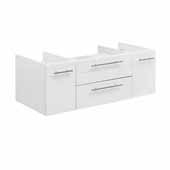 Lucera 42'' White Wall Hung Vessel Sink Modern Bathroom Vanity Base Cabinet Only, 41-1/5''W x 20''D x 15''H